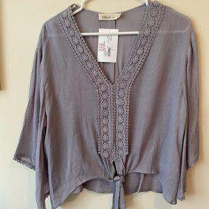 Boutique top NWT Size Small Lavender/blue
